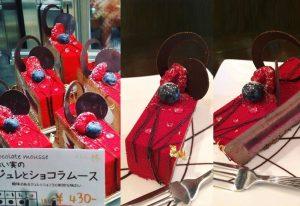 赤い実のジュレとショコラムース